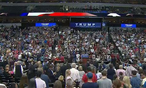 Fort Worth Rally Donald Trump | trump rally in dallas as people protest outside aac nbc