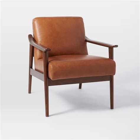 mid century chairs mid century leather show wood chair west elm