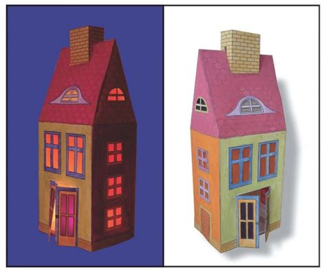 Haus Basteln by Laterne Haus Kreative Besch 228 Ftigung Basteln Mit Papier