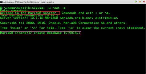 membuat database dari cmd ruangan komputer