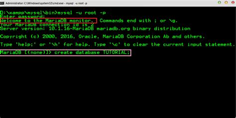 membuat database mysql dari command ruangan komputer