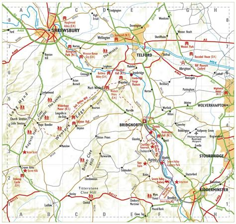 map of and surrounding areas map visit bridgnorth