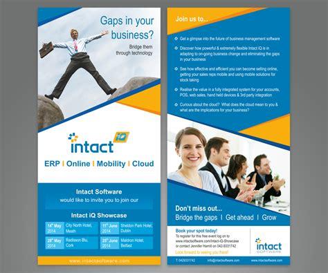 design business leaflet modern professional business flyer design for intact