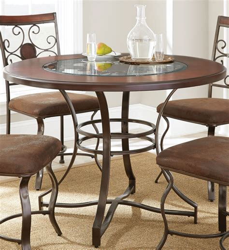 toledo gunmetal dining table from steve silver