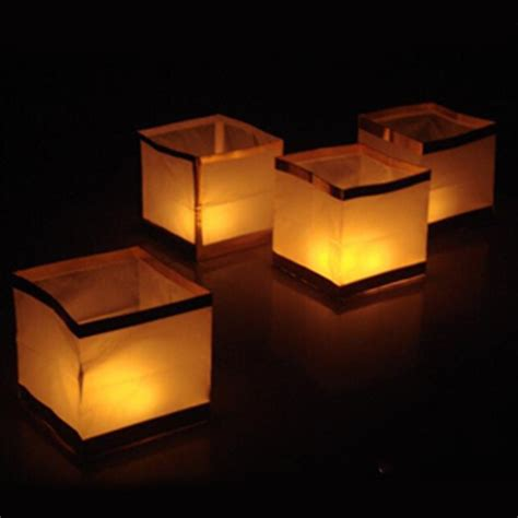 How To Make Paper Lanterns For Candles - 30pcs lot floating water lantern retro square