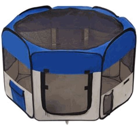 playpens for dogs 48 quot octagon portable playpen pet pen blue