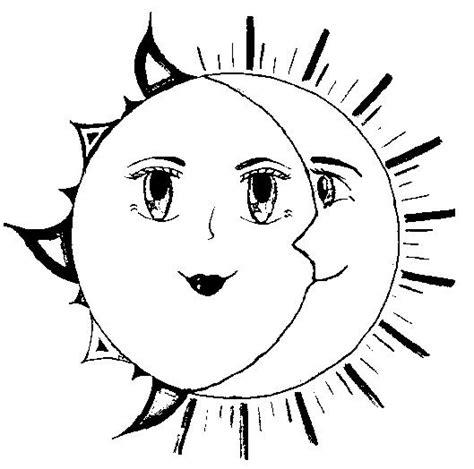 dibujo para colorear estrellas sol luna sol pinterest sol luna y estrellas para colorear imagui punto cruz