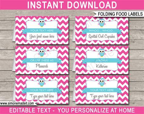Free Printable Owl Labels