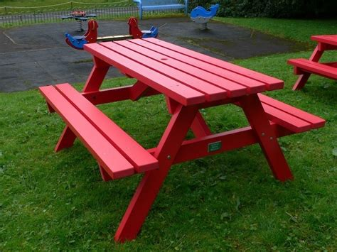 picnic tables with benches derwent recycled plastic picnic table picnic bench
