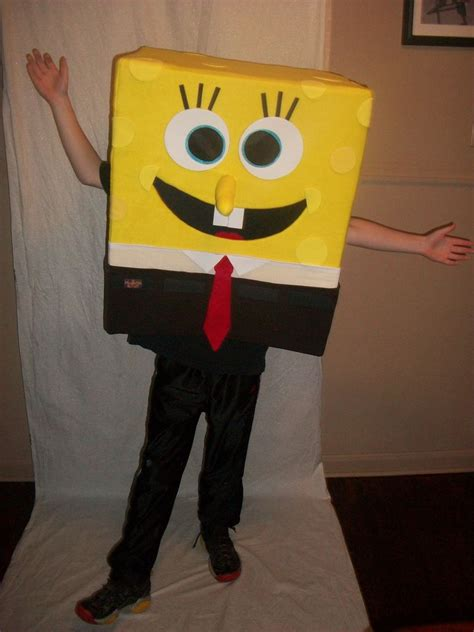 diy spongebob squarepants mascot halloween costume