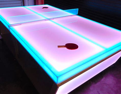 ping pong table area led ping pong table arcade rental