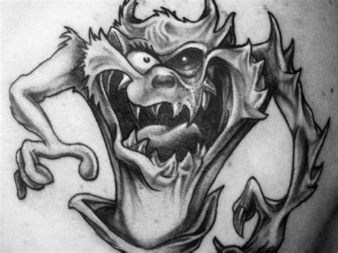 40 tasmanian devil tattoo designs for men cartoon