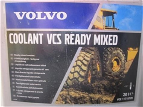 volvo coolant vcs ready mixed   ltr   approx ltr auction   graysonline