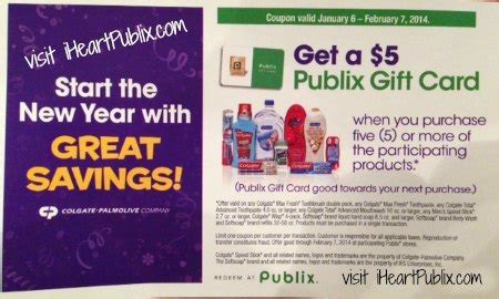 Publix Gift Card Discount - publix coupon for colgate palmolive products get 5 publix gift card