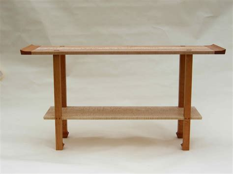maple sofa table handmade cherry curly maple console table by corwin