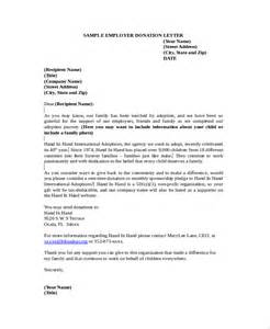 Fundraising Letter To Employees Sle Donation Letter 10 Exles In Word Pdf