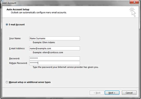 Office 365 Outlook Loses Connection How To Set Up Email In Outlook 2013 Hetzner Help Centre