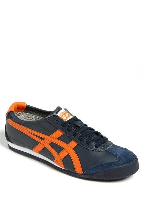 Onitsuka Tiger Mexico 66 Black Navy Bnib onitsuka tiger mexico 66 sneaker in blue for navy orange lyst
