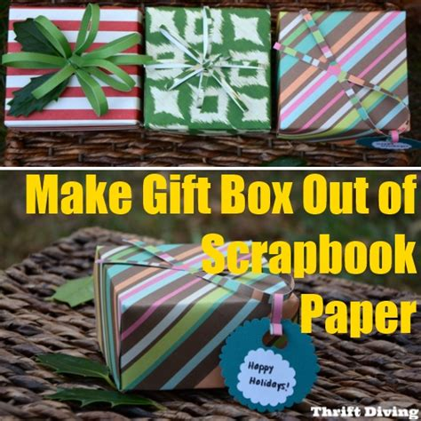 How To Make A Present Out Of Paper - how to make gift box out of scrapbook paper diy home things