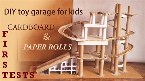 diy toy garage  kids  tests  cardboard garage