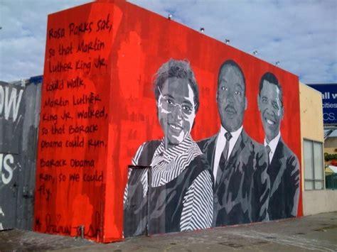 Banksy Wall Mural mr brainwash inauguration day los angeles unurth