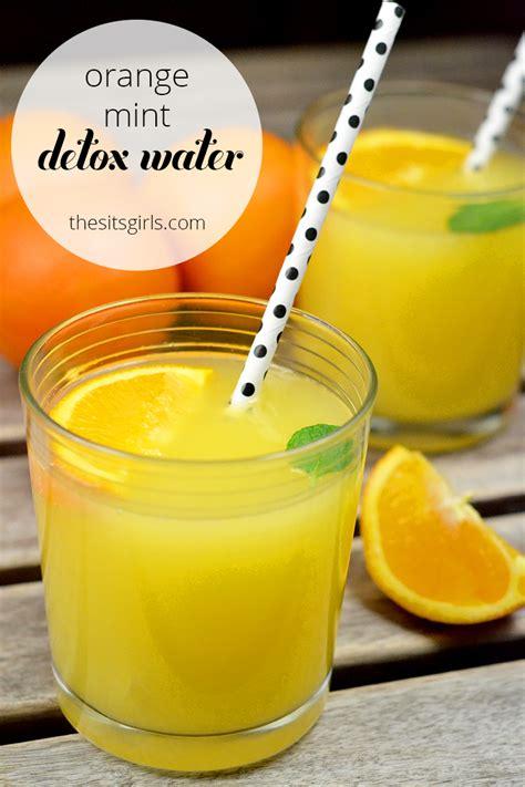Detox Coconut Water Recipe by Detox Water Recipe Orange Mint Coconut Water