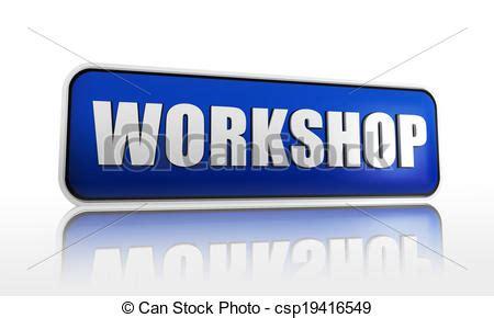 Werkstatt Banner by Zeichnung Werkstatt Blaues Banner Werkstatt 3d