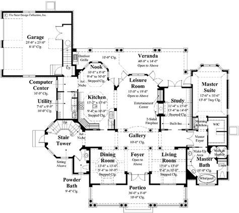 plantation style floor plans floor plan for plantation style dream home level 1