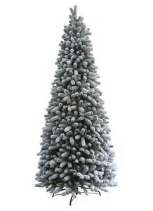 10 foot king flock slim artificial christmas tree unlit