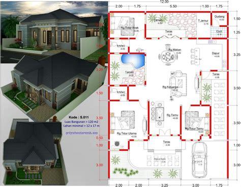 denah rumah 1 lantai jasa desain rumah