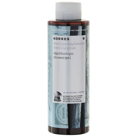 Korres Shower Gel by Korres Vanilla Plum Shower Gel 250ml Free Delivery