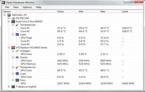 cpu fan temp monitor how to see cpu temperature in windows vista
