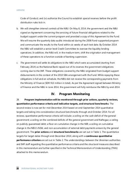 imf letter of intent memorandum of economic and financial policie