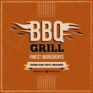 barbecue grill restaurant menu vector free download