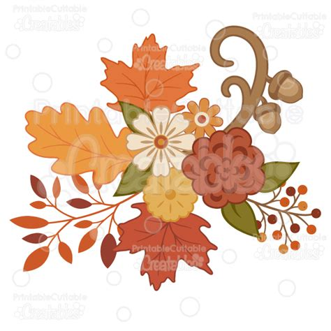 Home Design Elements Reviews Pretty Autumn Flowers Svg Cutting Files Amp Clipart