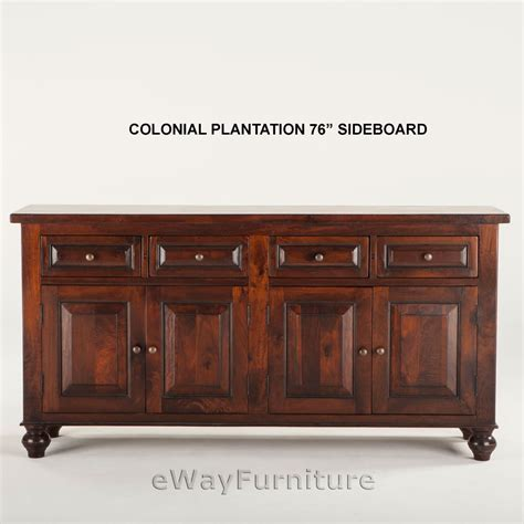 colonial plantation 76 inch sideboard