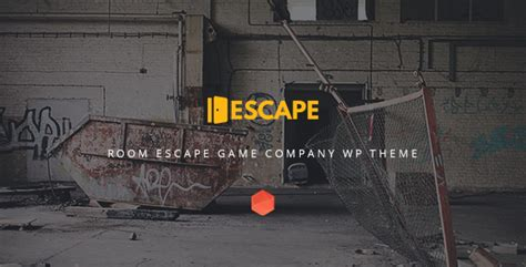 Escape Real Life Room Escape Game Company Wp Theme By Themecube Themeforest Escape Room Website Template