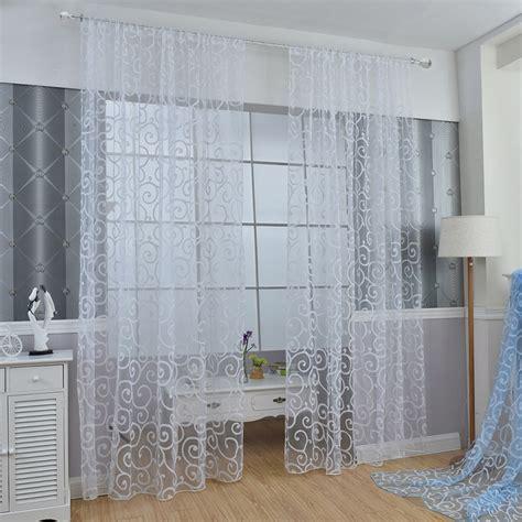 retro window curtains retro solid floral tulle voile door window curtains drape