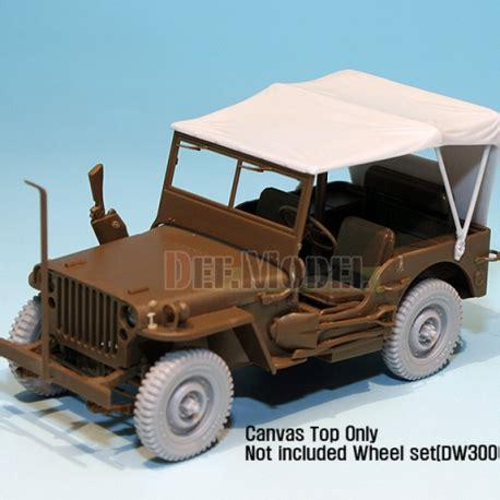 Jeep Kanvas X canvas top for willys mb 4x4 truck for tamiya 1 35
