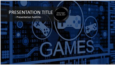 video game powerpoint template 7753 free video game