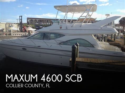 deck boats for sale marco island for sale used 1999 maxum 4600 scb in marco island florida