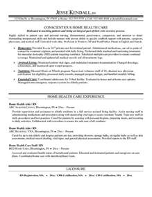 exle home health care resume free sle