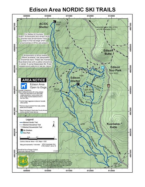 get printable directions nordic and snowshoe trails near bend oregon printable