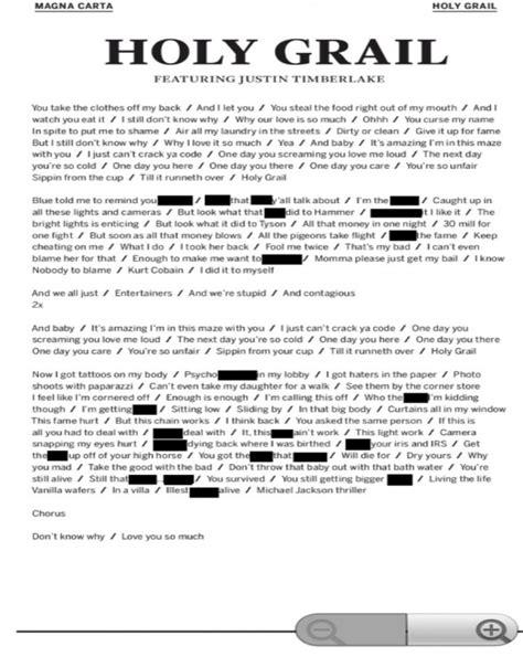 Editorial: Jay-Z (@S_C_) » Holy Grail [Lyric Sheet | Holy