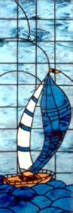 Sailboat Windows Designs Boat1 Stained And Leaded Glass Sailboat In Door Custom Glass Design