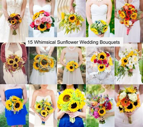 Wedding Bouquets Using Sunflowers by Sunflower Wedding Image Collections Wedding Dress