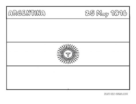 argentina flag coloring page intended to invigorate to