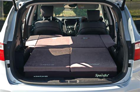 hyundai santa fe mattress sleeping in the car hyundai santa fe