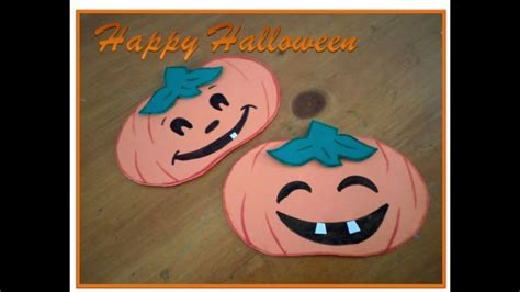 como decorar halloween en foami diy calabazas de foamy decoracion youtube