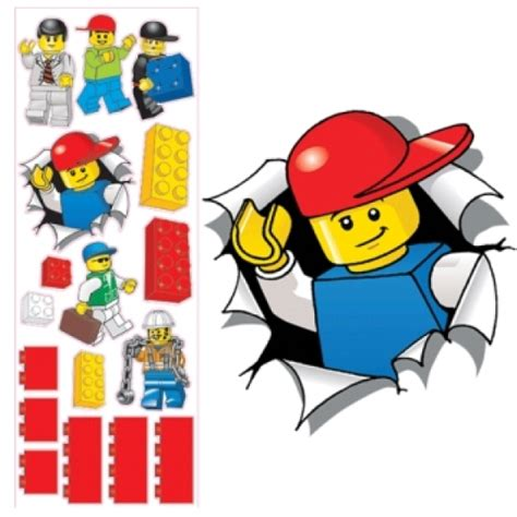lego stickers for wall lego maxi wall stickers large toys thehut